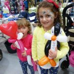 Balloon modelling and face painting in London.