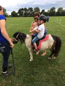 Pony rides at a company fun day in Cheltenham.