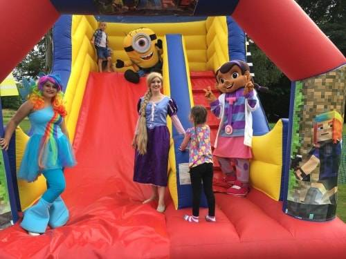 Bouncy castle hire and mascot characters