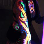 UV neon face and body painting.
