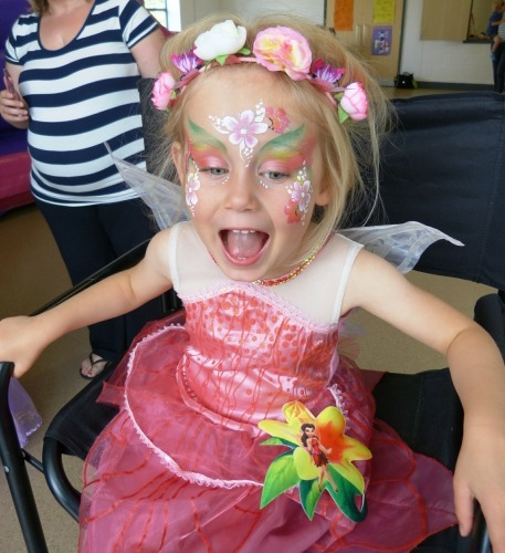 Princess fairy face painting.