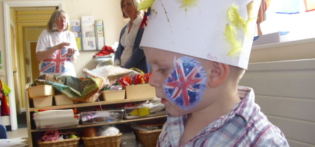 Union jack England flag face painting