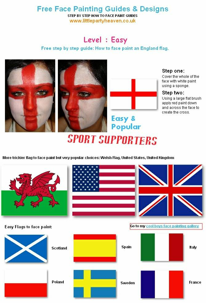 How to face paint the england flag and sports