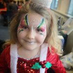 Christmas fairy face painting at a party in Bristol.