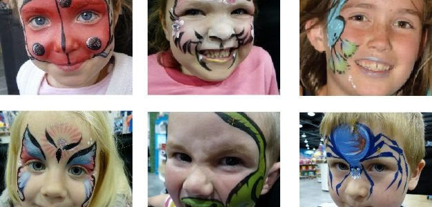Animal face painting ideas.