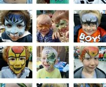 Boys face painting ideas.