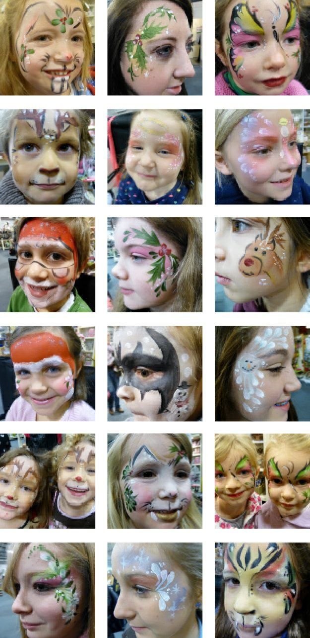 Christmas face painting ideas.