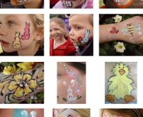 Easter face painting ideas.