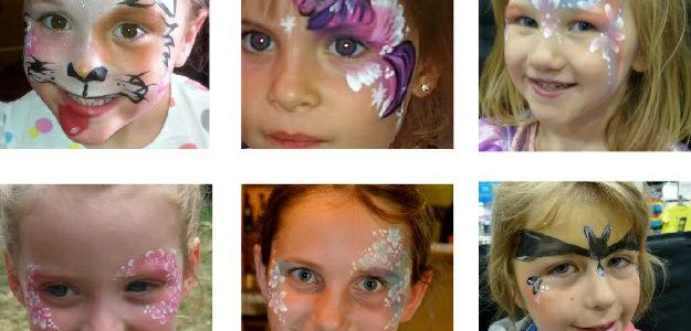 Girls face painting ideas sheet.