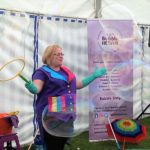 Bubble show for a kids birthday party entertainer in Tewkesbury near Worcestershire.