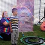 Bubble show kids entertainer performing in Bristol.