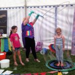 Children's entertainer doing a bubble show in Bristol.