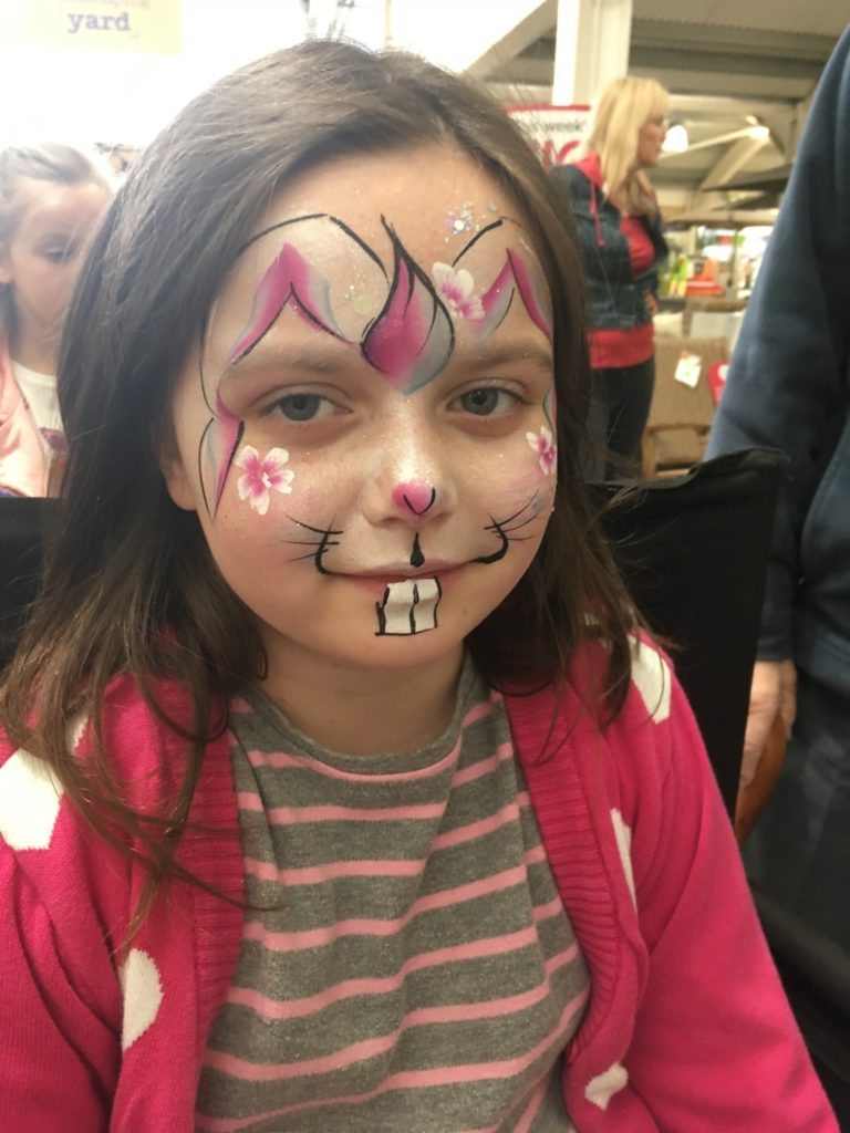 easter bunny rabbit face painting