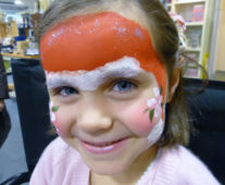 mrs clause santa face painting