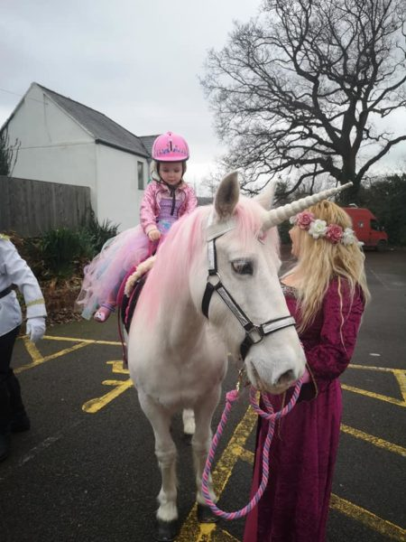Unicorn pony rides for parties events Bristol Gloucestershire.
